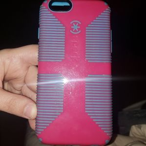 Speck Pink and Blue Iphone case